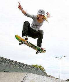 Skate chick wins respect