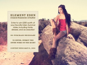 Element Eden Summer Contest