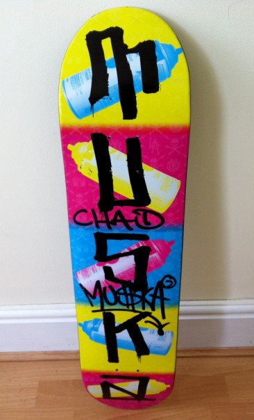 Auction Items: Signed Chad Muska Deck!