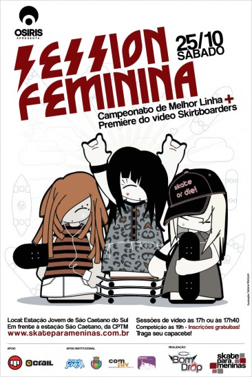 Session Feminina – Skate para Meninas