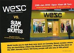 Free WESC and Slam Product!!
