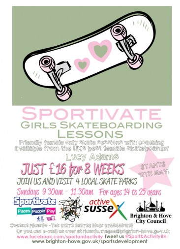Girls Skateboard Lessons with Lucy Adams