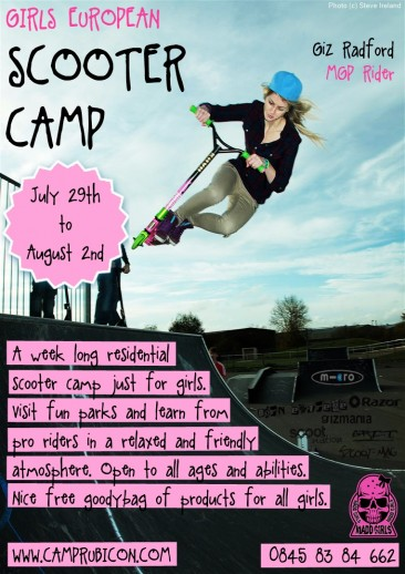 First Ever Girls Scooter Camp