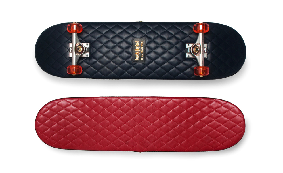 quilted leather skateboards