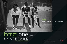 Girls Only Session At HTC One Skatepark