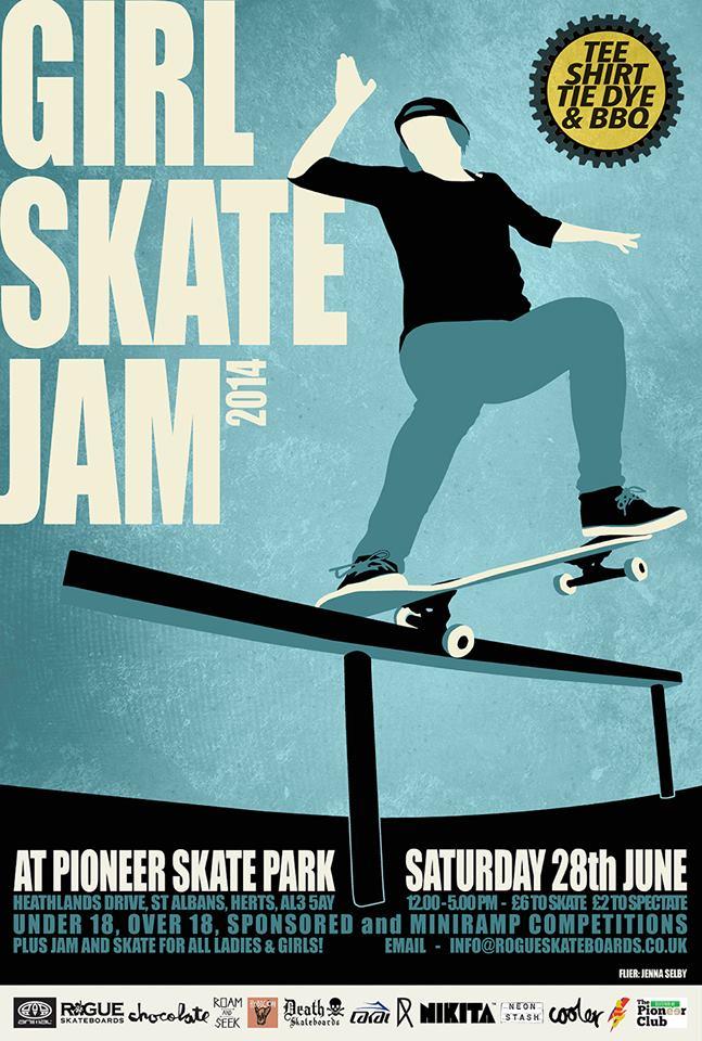 girls skate jam 2014 poster